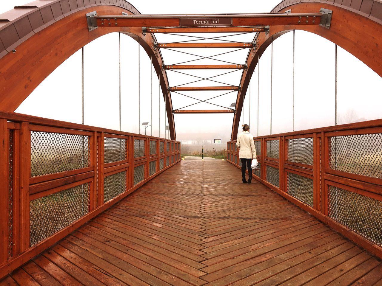 Termál HID Tamási / Termál Bridge Tamási. Fahíd Woodbridge KOD Fog Kodos Foggy Ködösreggel Foggy Morning Nature Természet Seta Walking