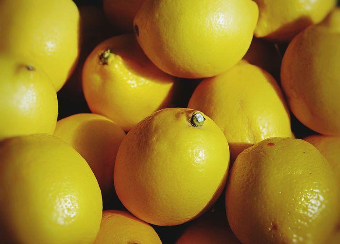 Lemons Citrus Fruit Yallow Food