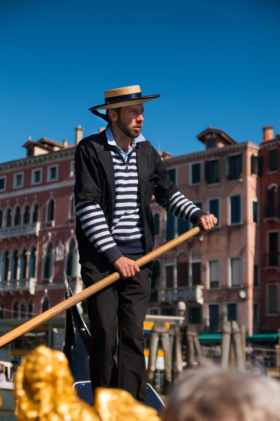 Architecture Building Exterior Built Structure City Day Italy Lifestyles Mid Adult Mid Adult Men One Person Outdoors People Real People Sky Standing Venice, Italy Young Adult