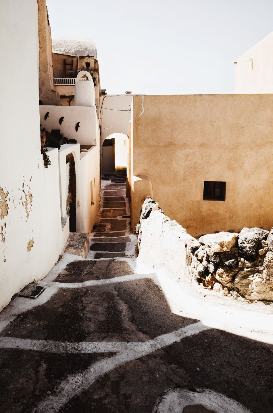 Architecture Built Structure Building Exterior Outdoors Day No People Whitewashed Nature Sky Santorini, Greece Santorini Greece Greece Alley