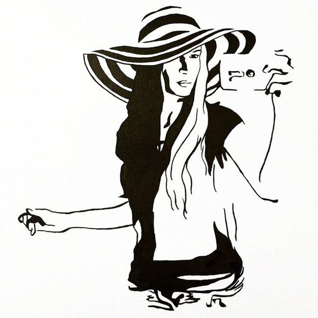 Темные полосы жизни легче проходить с близкими и друзьями💭 Спасибо мой друг @skovsky 💙 Рисовала Настя @skovsky @picspocsofficial Picspocs Picspocsofficial Ink тушь Inkdrawing Beauty Beautifulpeople красота Krasiviepeople Seagirl Selfie рисунок Drawing LGG2 Selfieexpert Selfietime Seapattern Sea деловшляпе Summer Море шляпа Hat Art