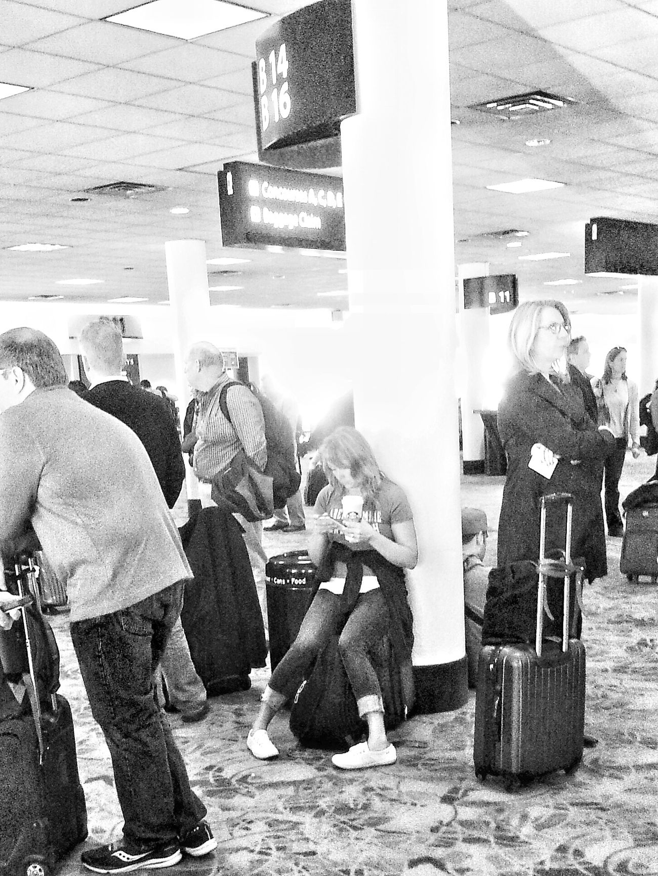 waiting to board Traveling At The Airport Waiting...