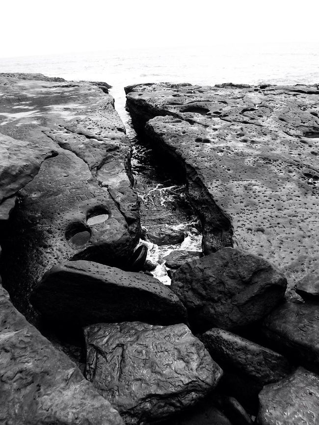 Black & White Beach Nature Textures And Surfaces