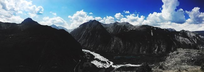 Mountains Frenchalps Alps Trees Trees And Sky Blue Sky River Lake Panorama Panoramic Panoramic Photography Panoramic View Panoramic Landscape Freshness Hello World Taking Photos Clouds Fresh On Eyeem  Fresh Produce Enjoying Life Serenity Coldbeauty Afterwork Snapseed Snapseed Editing
