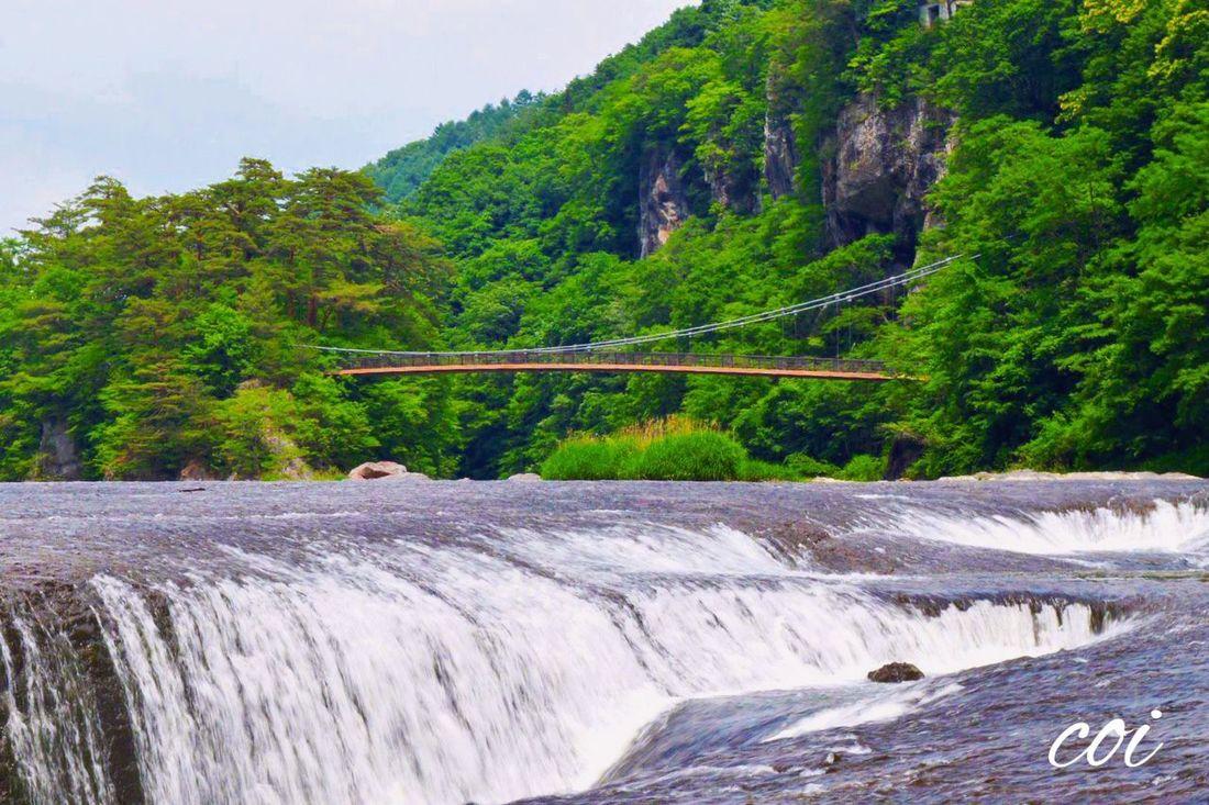 Emeyebestshot Beautiful Nature My Favorite  Landscape Traveling Memories Japan 吹割の滝 雨が止んで晴れた!今なめらかな岩肌は何万年もの時の造形。