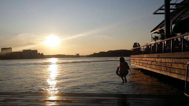 Summer evening in Stockholm. My son is bathing... No Edit/no Filter Mobile Photography Summer Evening Enjoying Life