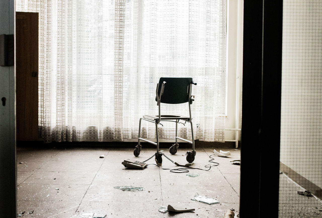 Last view No People Last View Sunlight Built Structure Abandoned Places Architecture chair Dead Place Indoor Abandoned Buildings City Life Last Hope Last Dreams Wheel Chair Dead Dreams EyeEmNewHere Keine Hoffnung The Secret Spaces