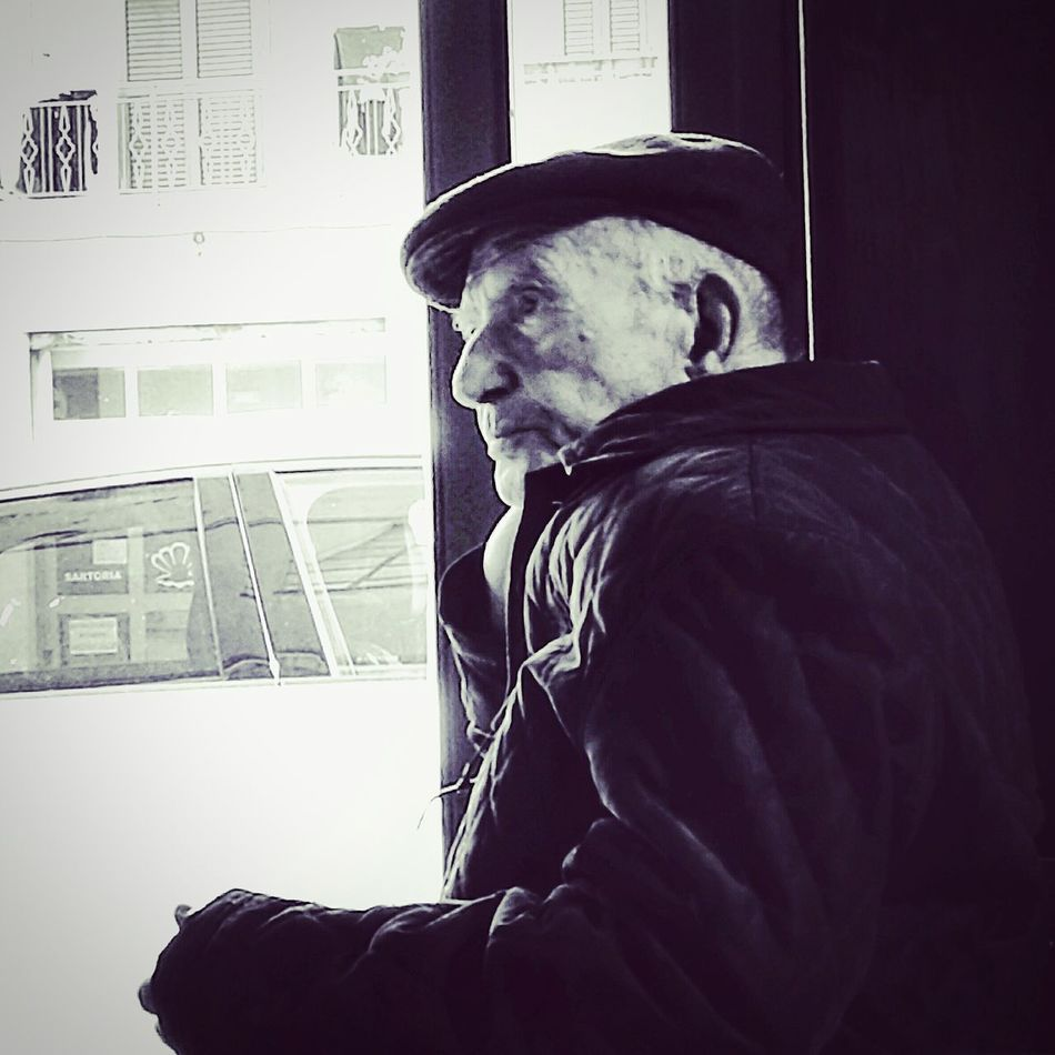 Only Men One Person One Man Only Window Adults Only People Adult Indoors  Day Desaturated Old Man Portrait Old Man Sitting Old Man's Life