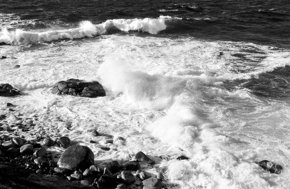 idmphotographer.com Beauty In Nature Blackandwhite Coastline Cornwall Cornwall Beach Crashing Day Film Photography Filmisnotdead Fine Grain Force High Contrast Ilford Delta 100 Motion Nature No People Outdoors Power In Nature Sea Storm Water Wave