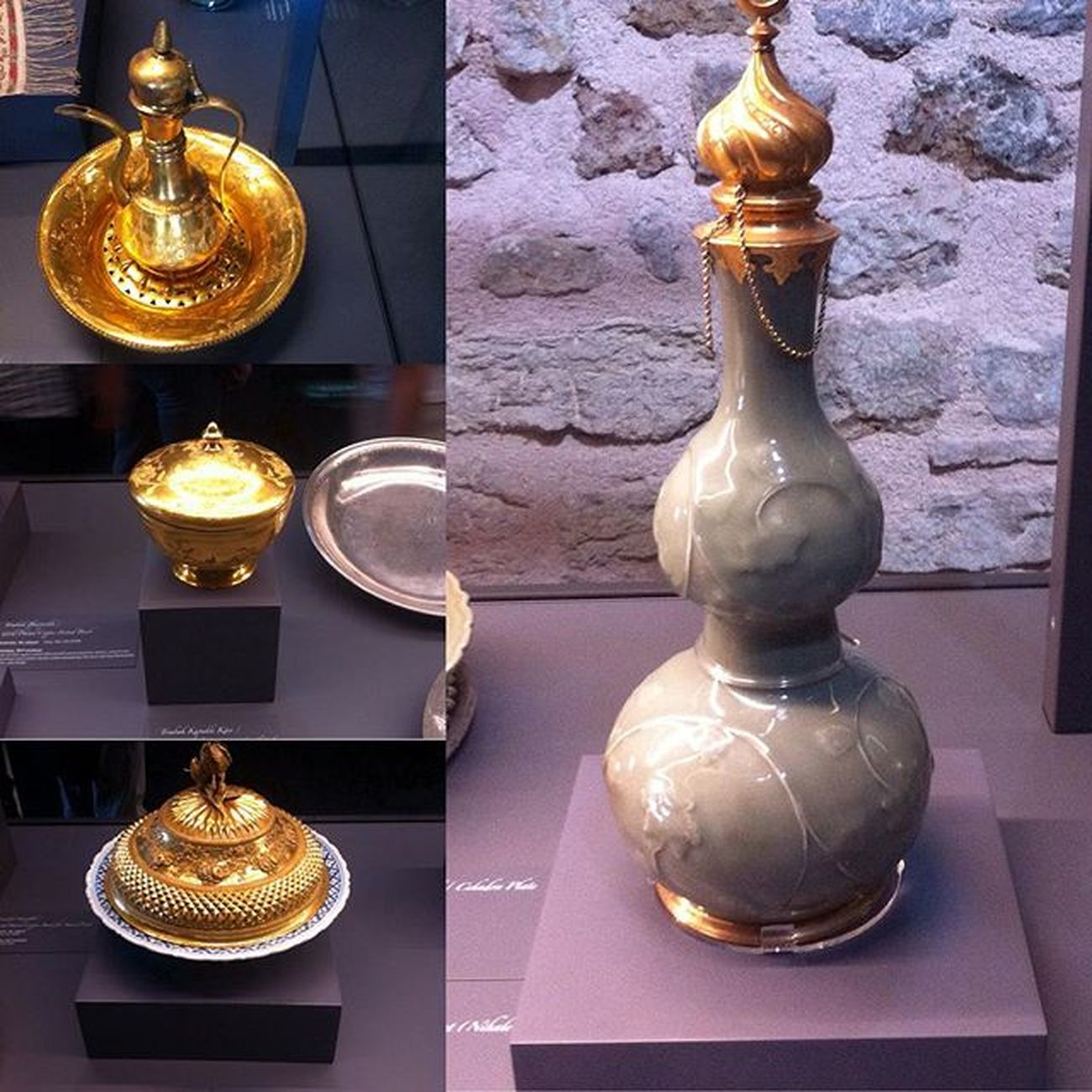 Gold kitchen items from ottomans period 14th century Museum Topkapi Gold Porcelain