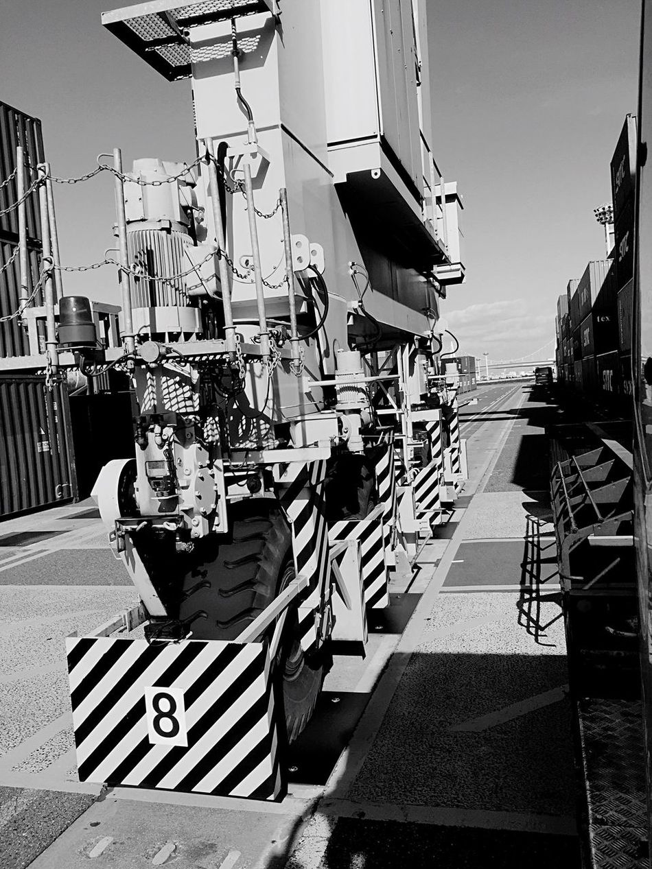 Crane Truck Monochrome Blackandwhite Truck EyeEm Container EyeEmBestPics Eye Em Around The World EyeEm Best Shots EyeEm Gallery Hello World