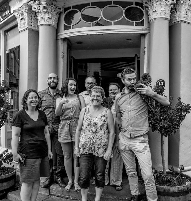 Group, Newport Pagnell, Buckinghamshire Black And White Monochrome Newport Pagnell Group
