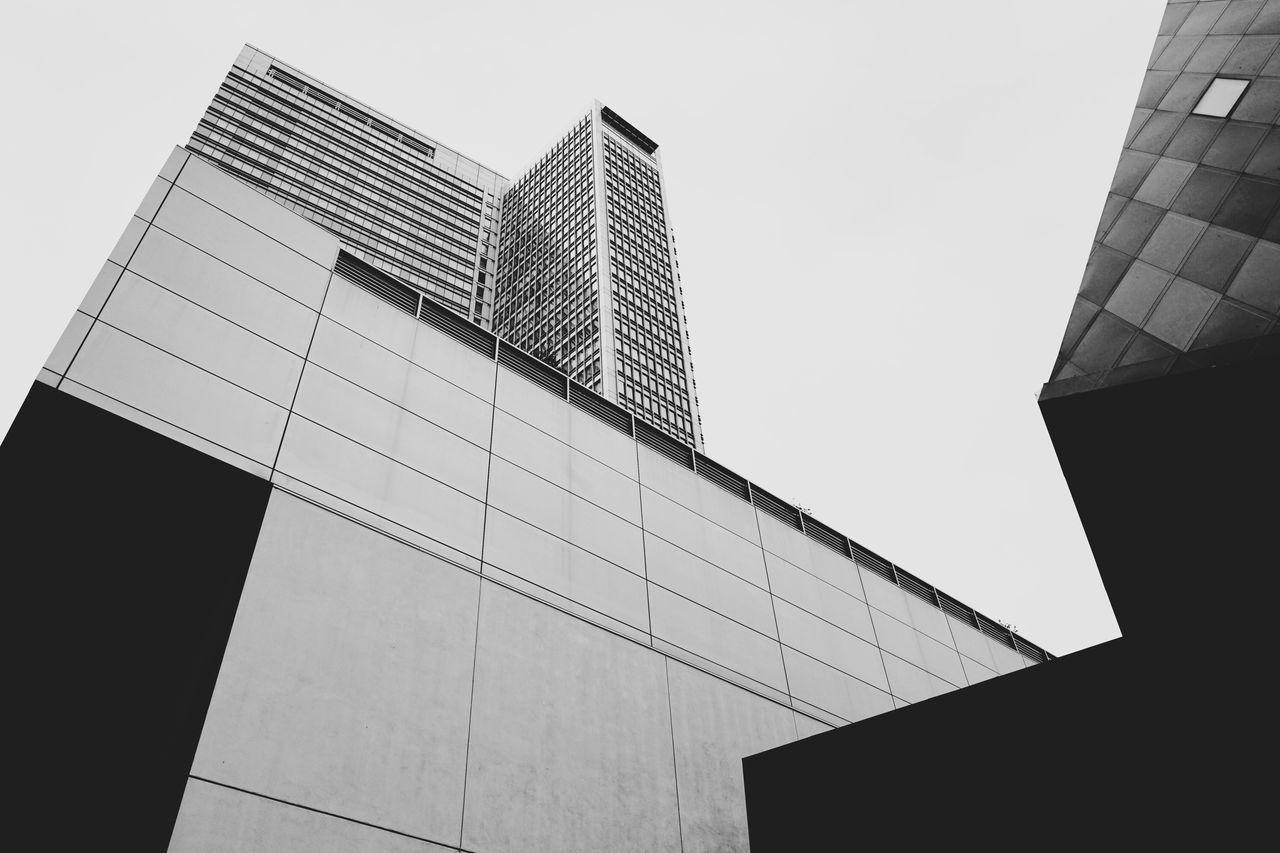 Architectural forms, SoMa, San Francisco. Architecture Skyscraper San Francisco Low Angle View Black & White Urban Geometry