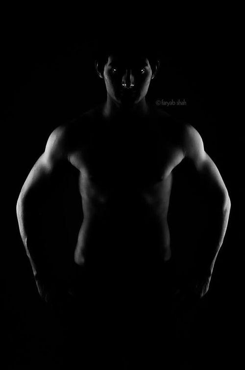 Body Fitness Lighting Studio Guy Gym Workout Model Faryabshah Handsome