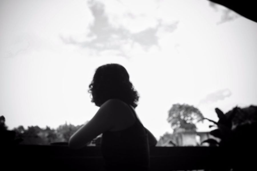 feels good to be home B&W Portrait Black And White Blury Bokeh Cloud - Sky Coffee Time Contemplation Day Time Defocused Delicate Dreamy Ethereal Faceless Portrait Faraway Look Fine Art Photography Focus On Foreground Home Is Where The Art Is Lifestyles Lovely Woman Monochrome Selective Focus Surreal Tranquility Portrait Of A Woman Long Black Hair