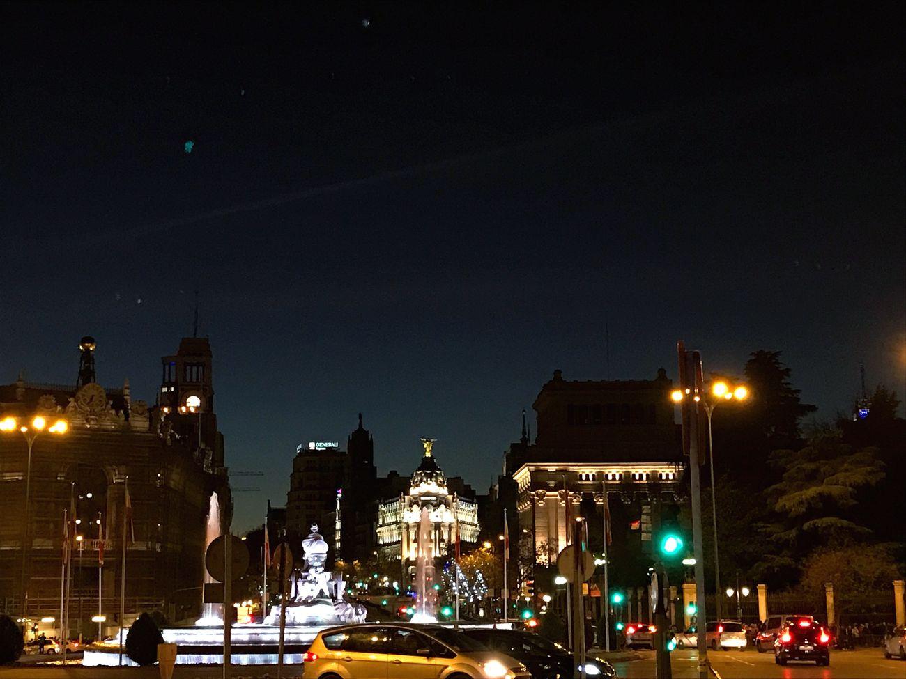 Cibeles Ayuntamiento De Madrid. Illuminated Sky Horaazul Architecture Outdoors City