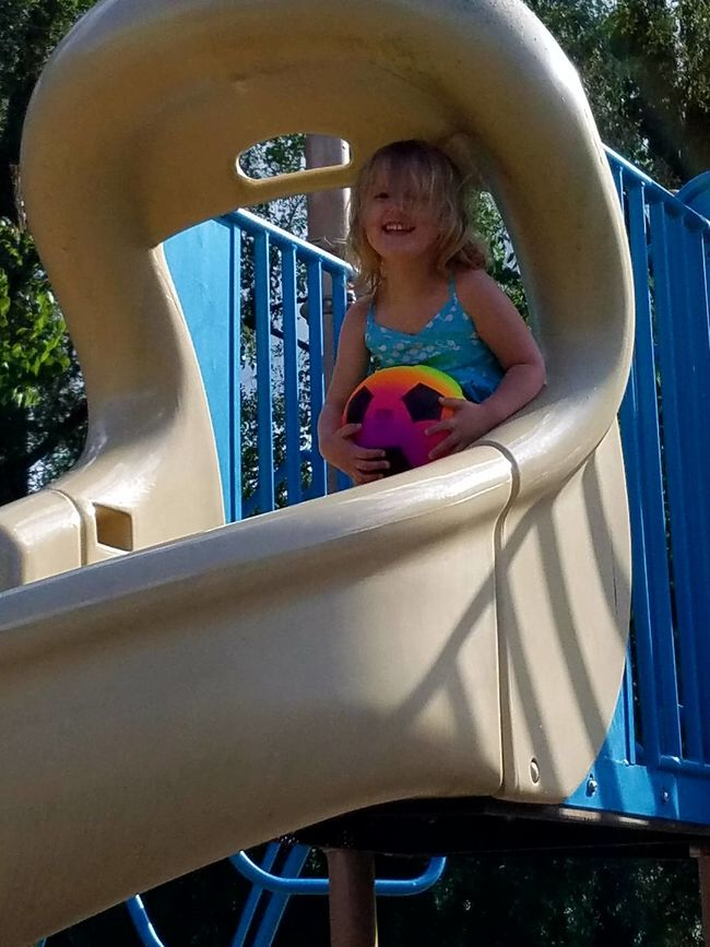Pure joy Gwenniegoose Gwinning Cheese! Eye4photography  My Baby Gwennie Goose The Purist (no Edit, No Filter) Enjoying Life Happiness Samsungphotography Soccer⚽ Slide Playground Playground Equipment Playground Fun With The Kids Samsung Galaxy S7 Edge People And Places Look! Outdoors