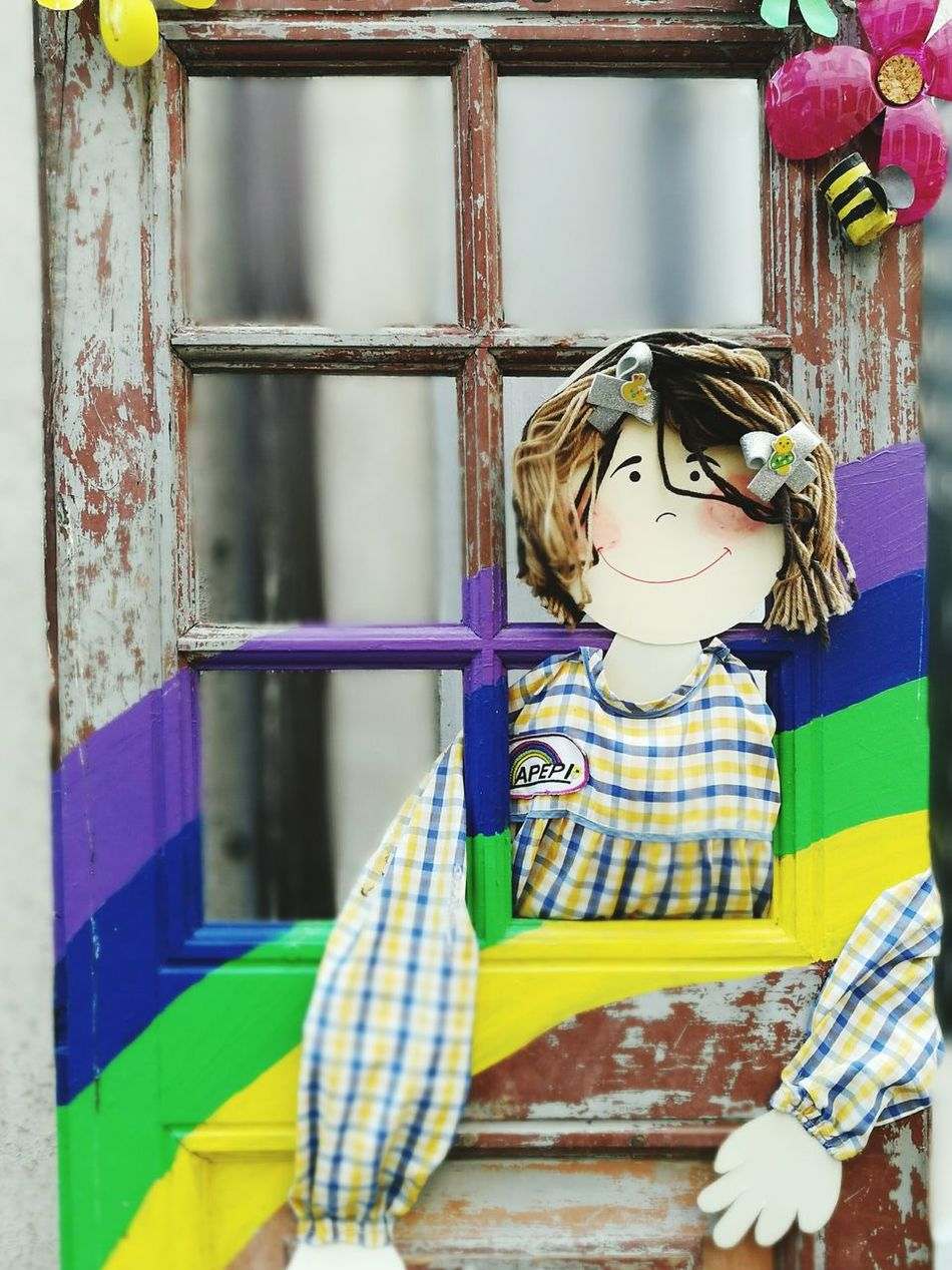 Child Flower Children Only People Girls One Girl Only Childhood One Person Multi Colored Day Outdoors Close-up Adult EyeEmNewHere Art Is Everywhere ArtWork Door Portrait