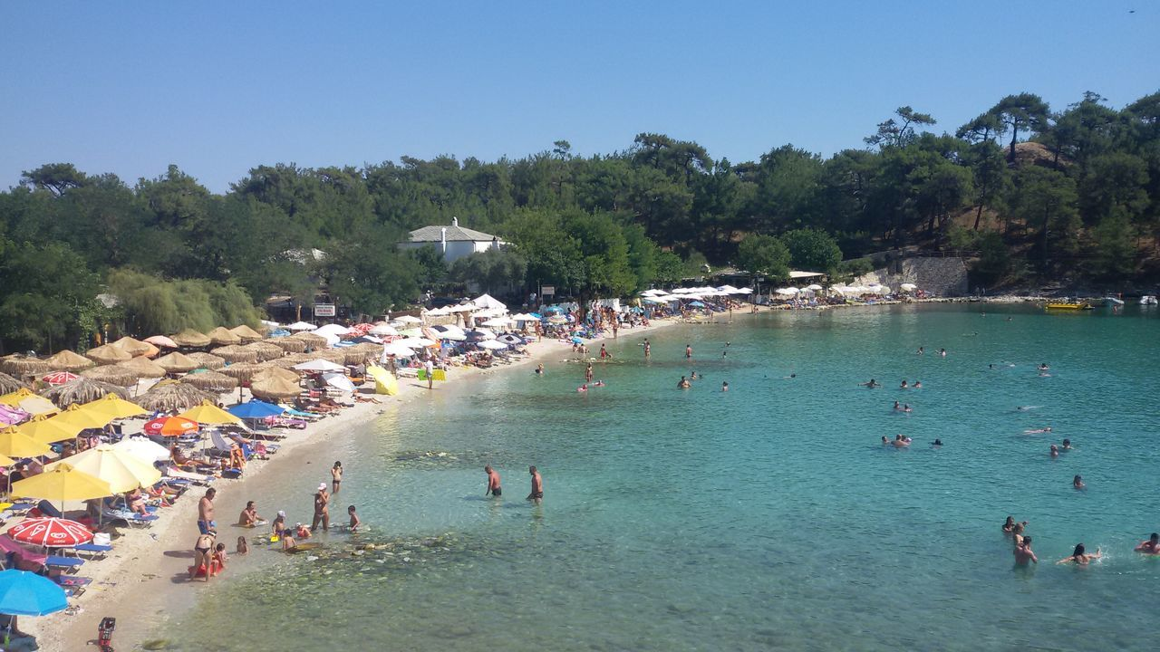 Water Beach Tourism Travel Greece, Thasos Aliki Beach