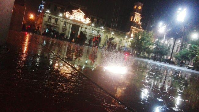 Cities At Night Rushu'M Santiago De Chile lluvias :3☔
