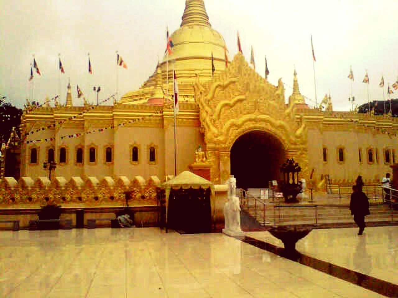 Indonesia Culture Architecture Travel Destinations Built Structure Statue Sky Outdoors Day Reflection Vihara Buddist Temple INDONESIA
