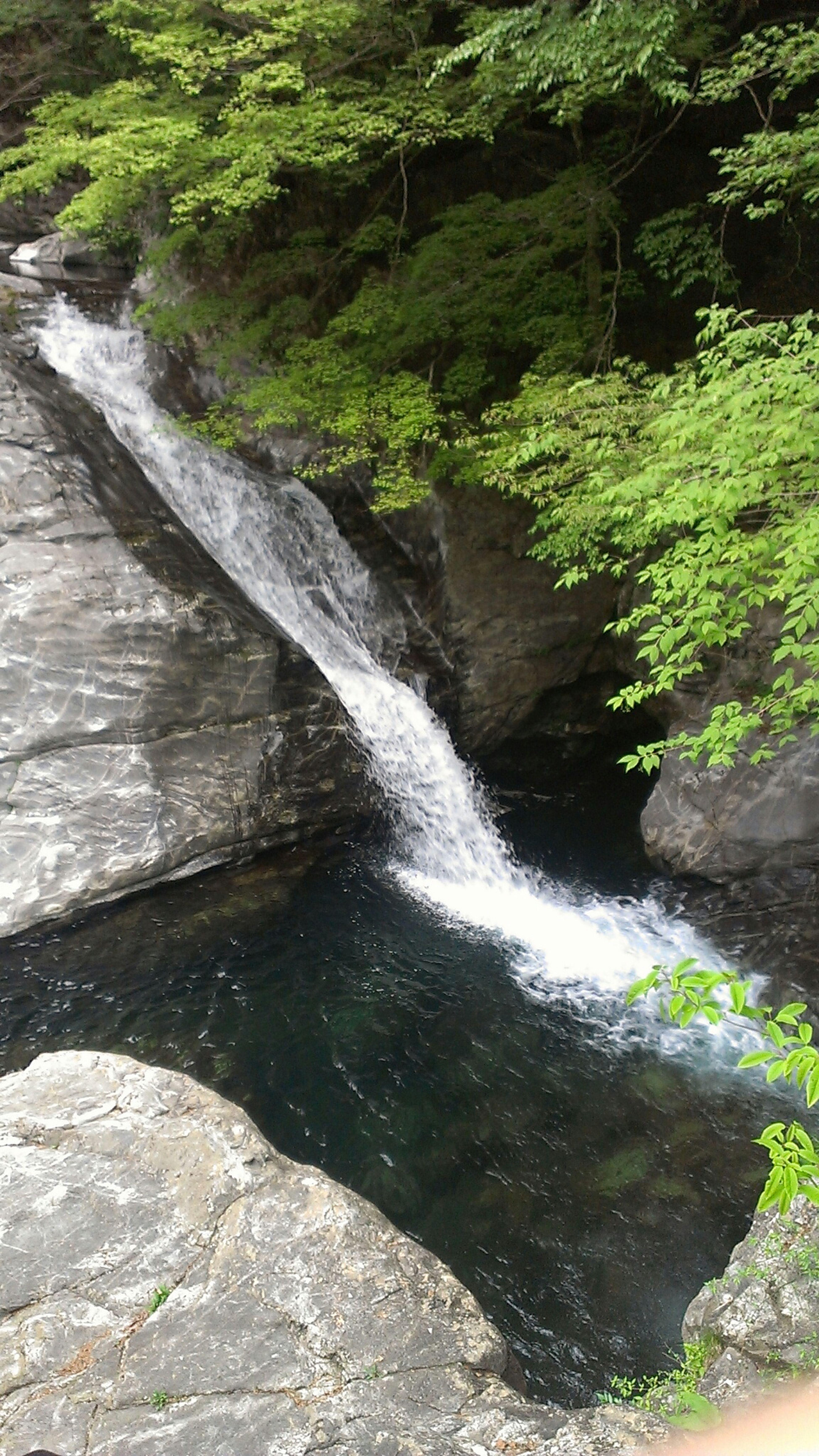 Taking Photos Waterfall TENKAWA Mitarai Valley