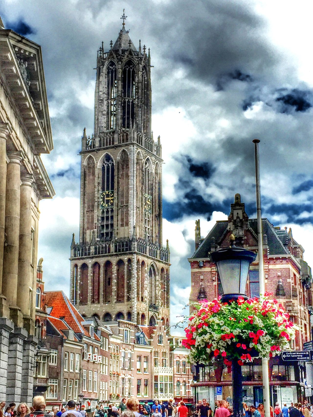 Architecture Building Exterior Religion Church Built Structure EyeEm Nature Lover EE Love Connection! Eyemphotography Utrecht Domtoren Taking Photos Eye4photography  Spirituality Cathedral Travel Destinations Cloud - Sky Sky City Tourism Clock Tower Tower City Life Façade Famous Place History