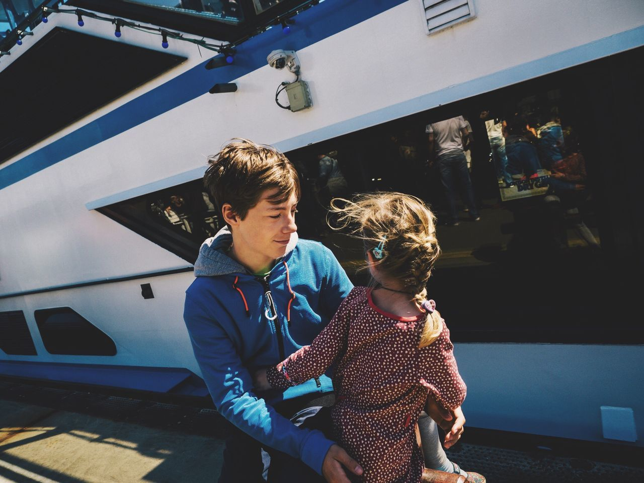 Bond // Hamburg// June'17 Togetherness Real People Boys Standing Childhood Family Family With One Child Father Love Leisure Activity Lifestyles Bonding Day Men Outdoors Young Adult Hamburg Germany Streetphotography Candid Brother & Sister