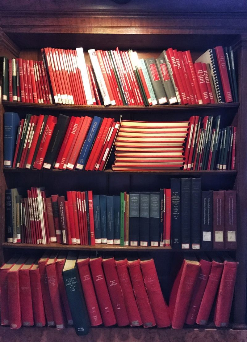 Books Reading Library Red Bookshelf Large Group Of Objects Collection Organized Reference Book
