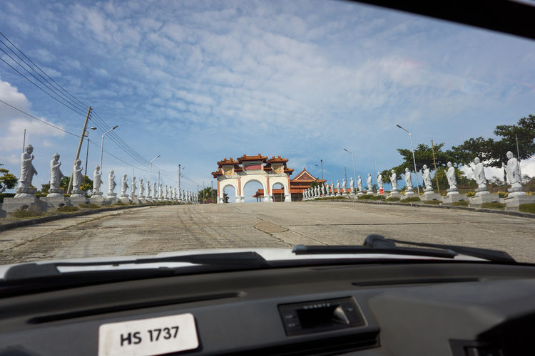 Architecture Asian Temple Car Car View Cloud - Sky Day Land Vehicle Mode Of Transport Nature No People Outdoors Sky Transportation