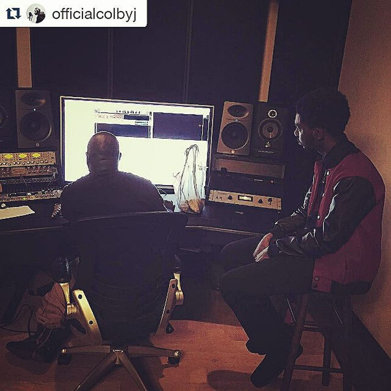 Repost @officialcolbyj with Good studio session today, learned some valuable life lessons. Thank you again @unanimousmusicgroup for the love and opened door, blessings! UMGStudios Musicfactory Purposedriven