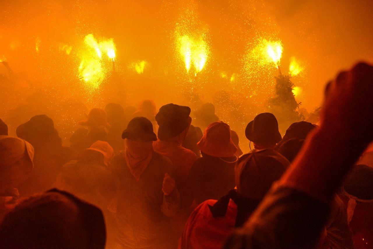 Party Fire Night La Patum catalonian' party