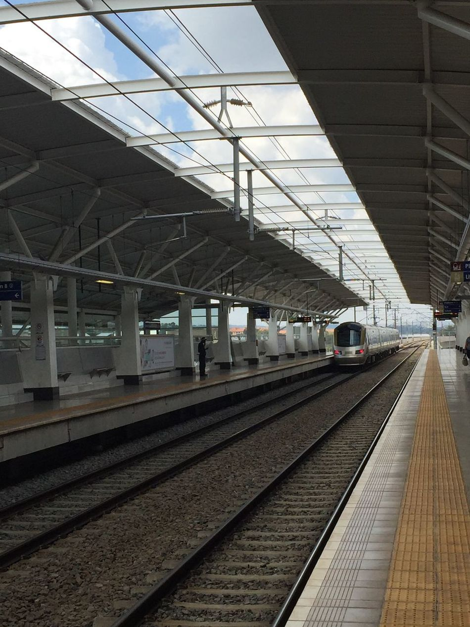 The Journey Is The Destination Gautrain Station Station Tracks Leaving No People Daytime Daytrip Hello World Outdoors Traveling Natural Light Moving Train Clean Station Departing Waiting
