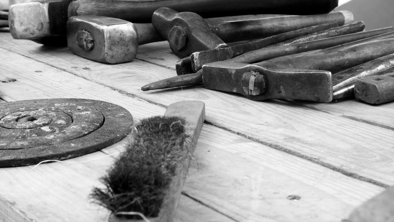 The Tools of a craftman Check This Out Close-up Craftman Tools Deterioration Iron Nail Old Still Life Tools Wood Wood - Material Wooden Work Tool Monochrome Photography