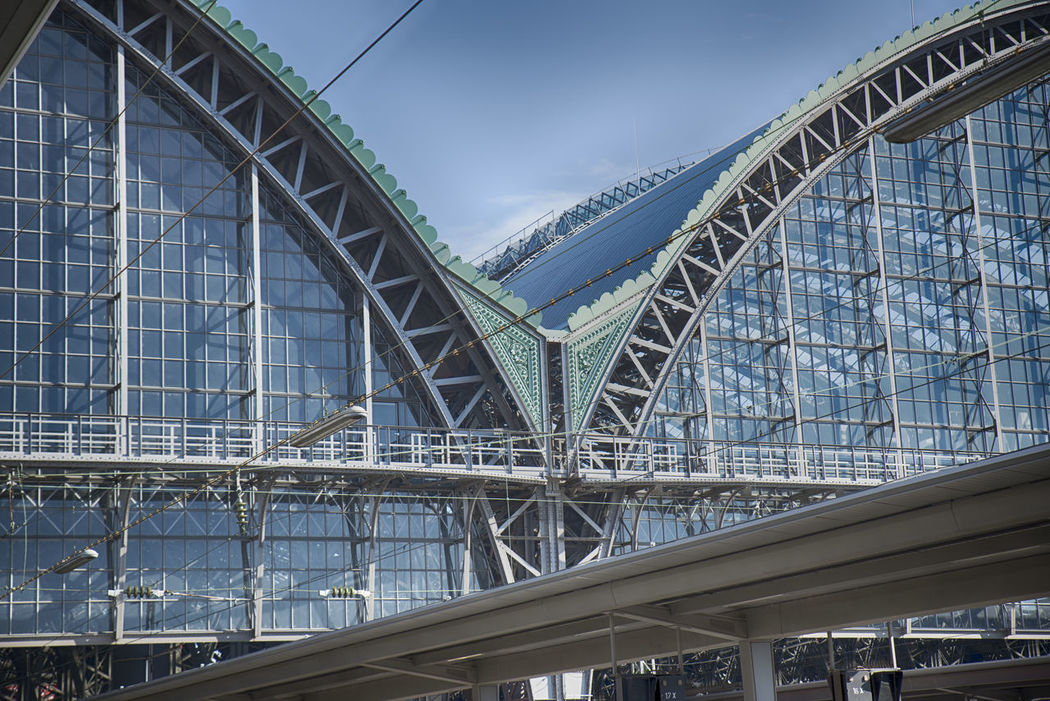 Architecture Building Built Structure Connection Day Hauptbahnhof Frankfurt Am Main Konstruktion No People Travel Destinations