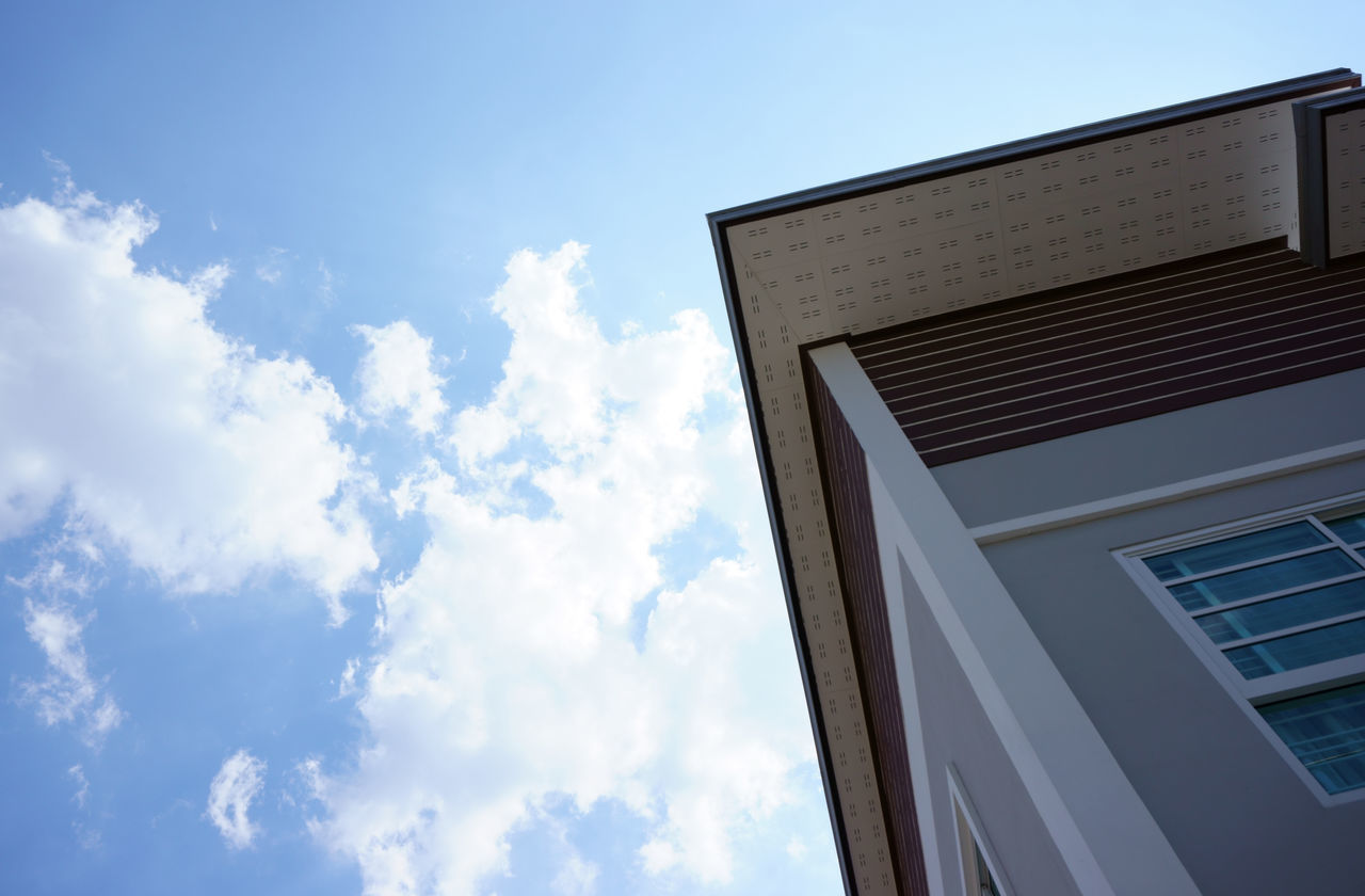low angle view, cloud - sky, sky, day, no people, built structure, outdoors, architecture, building exterior, nature