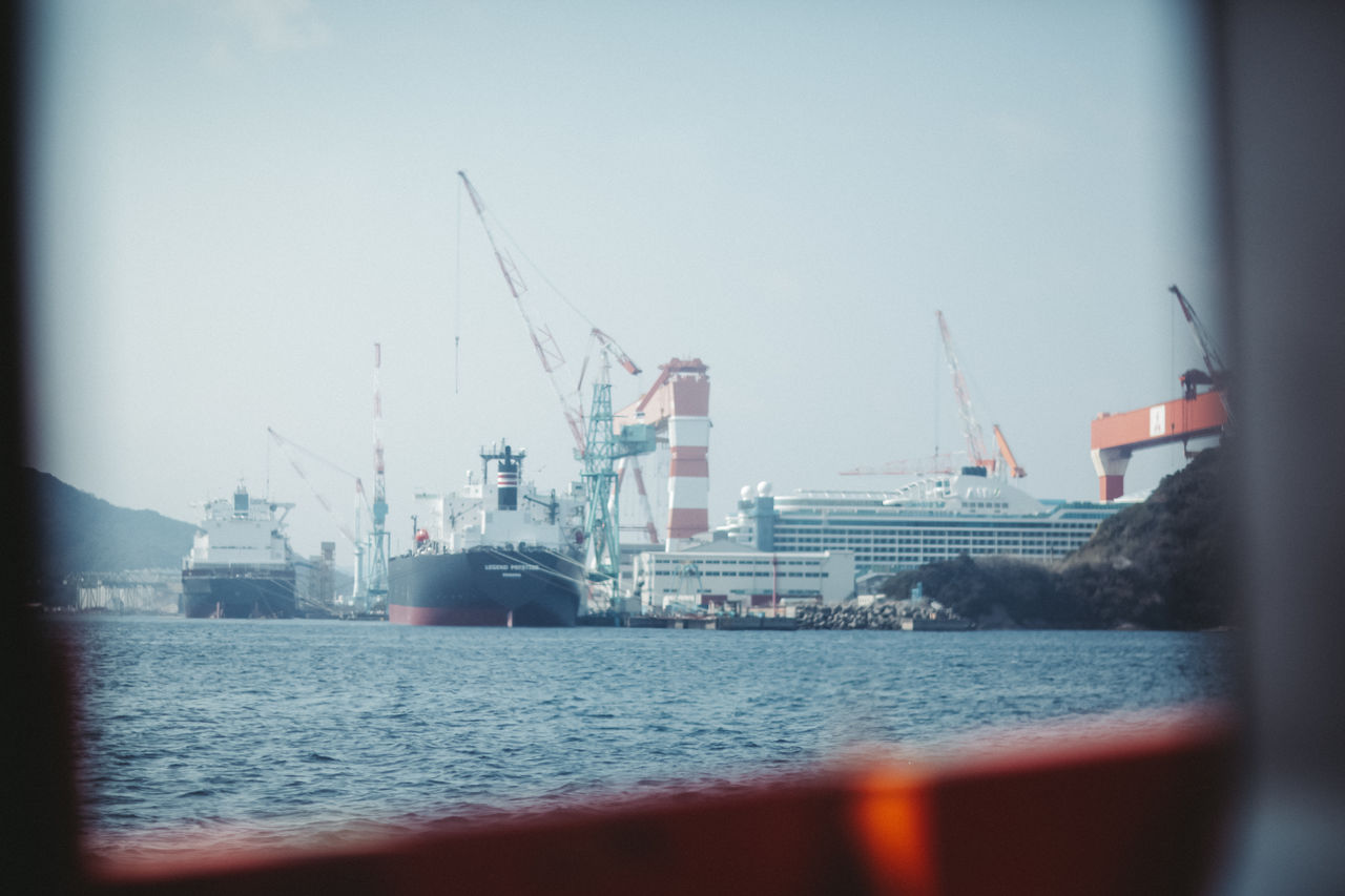Day Industrial Industrial Photography Japan Japan Photography Means Of Transport Ocean Outdoors Ships Spring Summer Transportation Window View