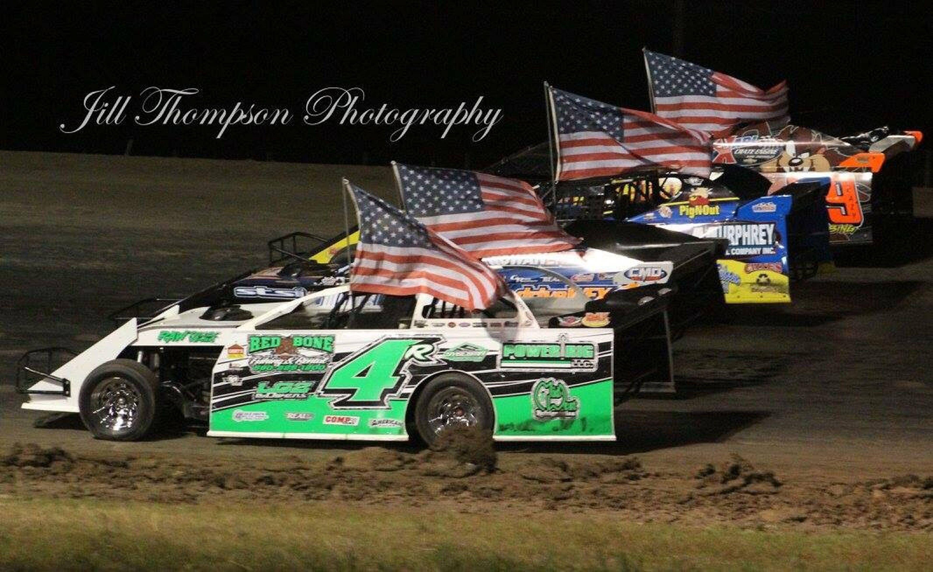 Usmts Patriotism Flag Racecars Racetrack