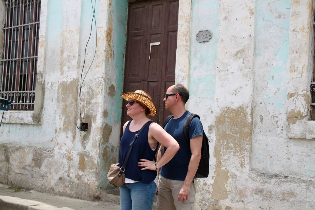 Couple Cuba Havana Havanna, Cuba Tourists Traveling Vacations Architecture Building Exterior Built Structure Capital Cities  Casual Clothing El Prado Havana Street Lifestyles Man And Woman No People Outdoors Paseo Del Prado Real People Standing Togetherness Travel Destinations Two People Young Adult Connected By Travel Second Acts