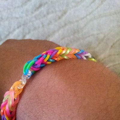 Lil cousin made me a bracelet. Kids KAWAII
