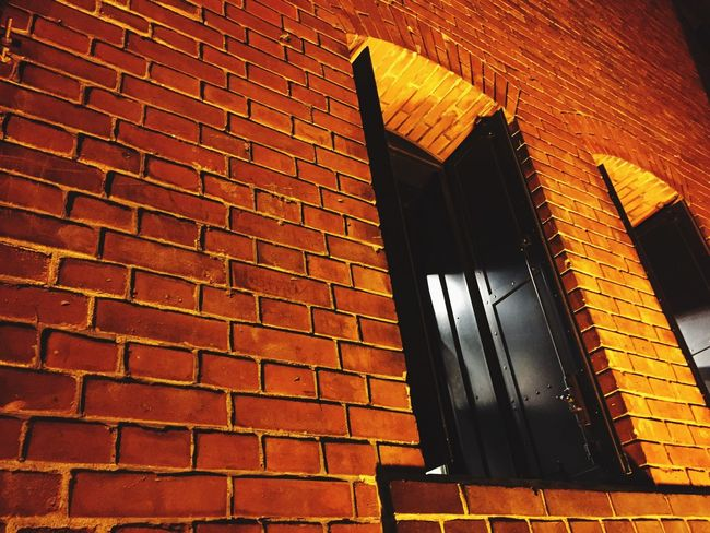 Dramatic Angles Window Window Frame Window Sill Red Brick Wall Redbrick Redbricks Redbrickwall
