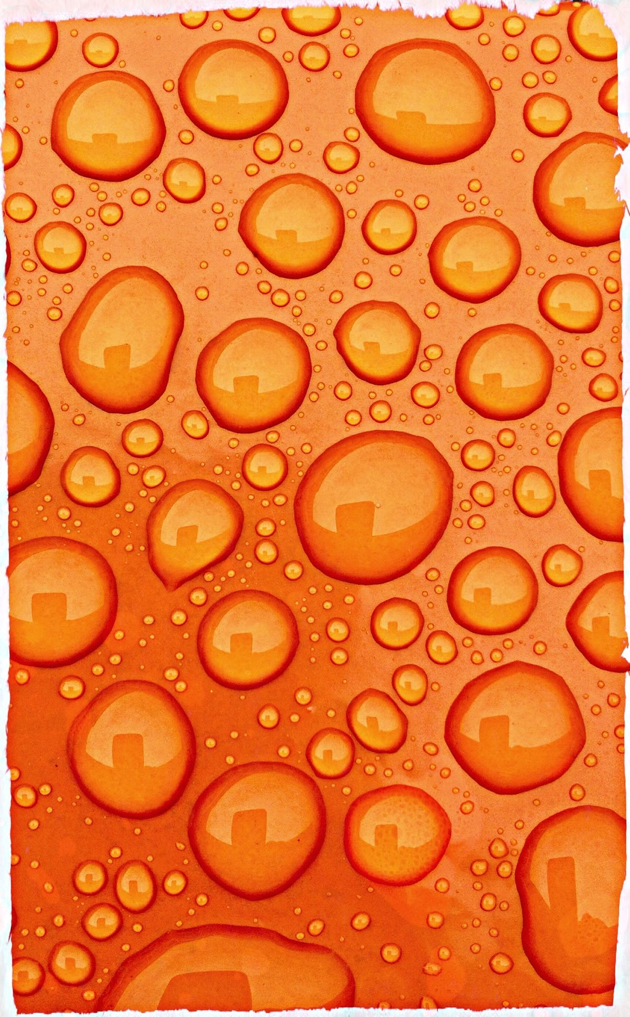 Extreme, EXTREME Closeup Orange Rain Rain Drops supporting the Dutch team.. Ofcourse We Are Onefootball