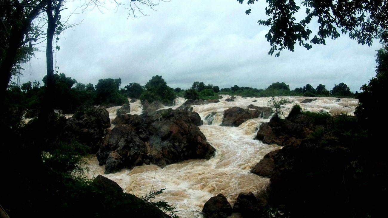 Laos 4000 Islands Waterfall Don Det Backpackerlife BackpackersMemories Beeindruckend