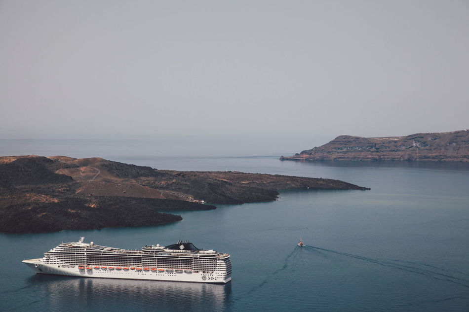 Beautiful stock photos of greece, Beauty In Nature, Clear Sky, Copy Space, Cruise Ship