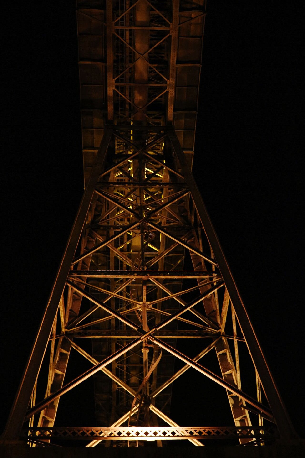 Tower Built Structure Night Architecture Low Angle View Electricity Pylon Electricity  No People Grid Connection Sky Outdoors Technology Douroriver Douro  Porto