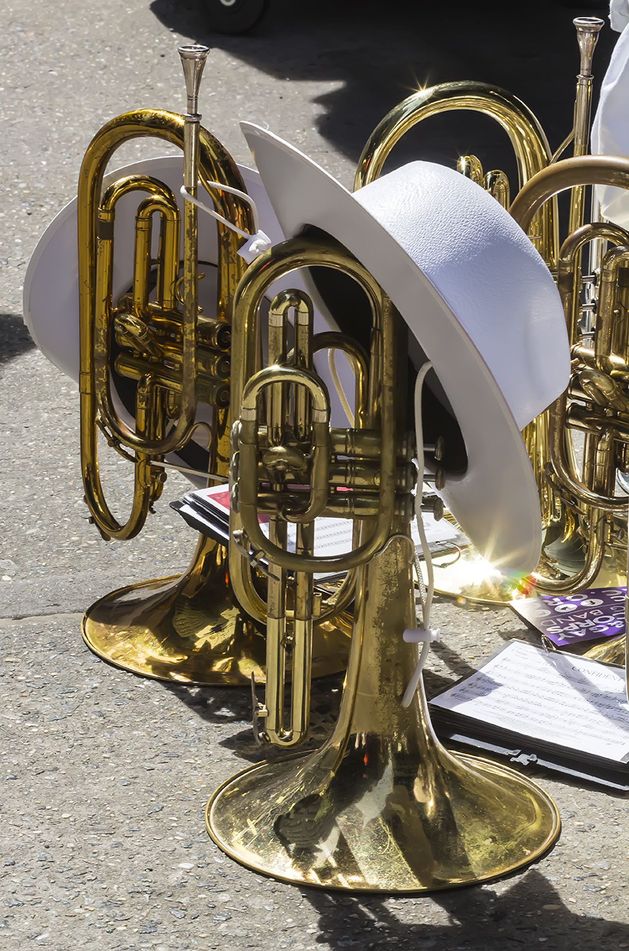 Gay Pride Parade NYC 2016 Brass Instruments Gay Boy Gay Pride Parade NYC 2016 Marching Band Instruments Musical Instruments