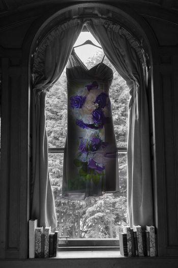 Window Curtain Indoors  No People Day Drapes  Architecture Close-up Wedding Wedding Dress Wedding Flowers Blackandwhite Tullochcastle Dingwall Scotland Edit