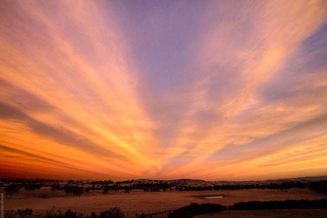 NEM Clouds Xmas Eve Sunset in Australia