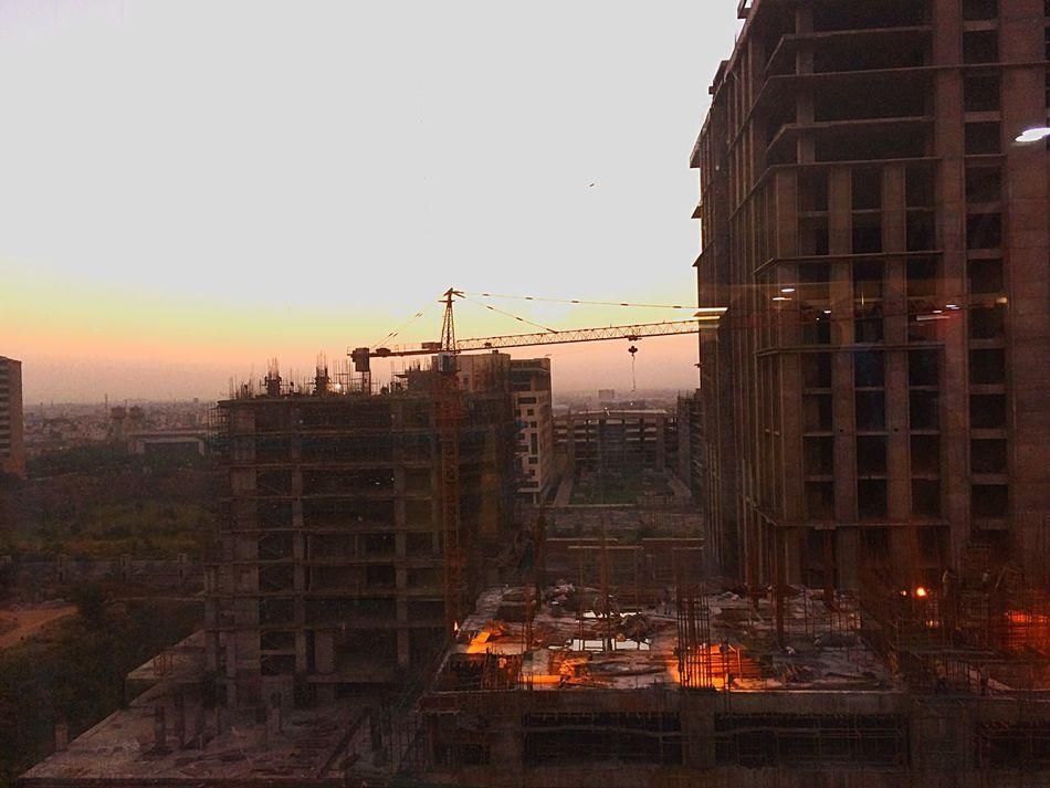Building Exterior Architecture Built Structure City Outdoors Sky Sunset Photography Building Construction Site Construction India