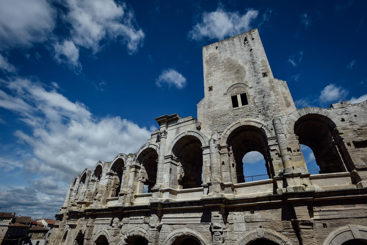Arena (Roman Amphitheatre ) in Arles, Provence, France Amphitheater Ancient Ancient Civilization Arch Architecture Arena Arles Built Structure Famous Place France History Old Ruin Outdoors Place Of Worship Provence Roman Roman Empire Ruined Sightseeing The Past Theatre Tourism Travel Destinations Traveling